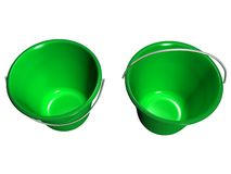 Bucket Green, Top View_Raster Stock Image