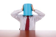 Bucket head businessman Royalty Free Stock Photos
