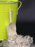 Bucket with ice. For the hot days Stock Photo
