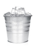 Bucket with ice cubes Stock Image