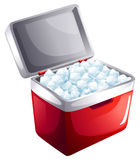A bucket of icecubes Royalty Free Stock Images