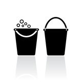 Bucket icons Stock Images