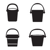 Bucket icons Stock Image
