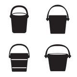 Bucket icons. Set vector Stock Image