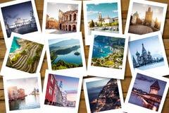 Bucket list destinations. Euro trip Royalty Free Stock Photos