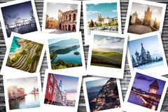 Bucket list destinations. Euro trip Stock Image