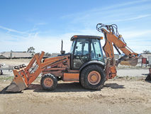 Bucket Loader With Backhoe Stock Photos