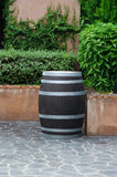 Bucket made ​​of wood. Stock Image