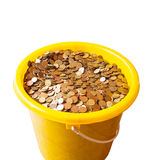 Bucket with money Royalty Free Stock Photography