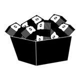 Bucket with money bills Stock Images