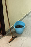 Bucket and mop. Royalty Free Stock Photos