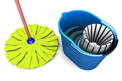 Bucket & Mop Royalty Free Stock Photography