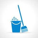 Bucket and mop Royalty Free Stock Images