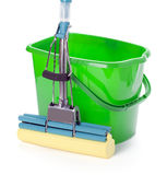 Bucket and mop Stock Photo