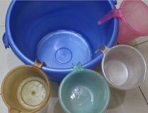 Bucket and mugs Royalty Free Stock Photography