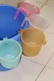 Bucket and mugs Stock Image