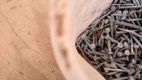 Bucket of Nails Royalty Free Stock Image
