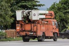 Bucket o caminhão da autoridade provincial do eletricity de Tailândia foto de stock royalty free