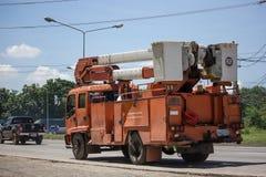 Bucket o caminhão da autoridade provincial do eletricity de Tailândia imagem de stock royalty free