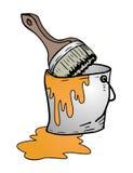 Bucket of orange paint Royalty Free Stock Image