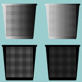 Bucket pail serene or dustbin with metal for paper icon. Royalty Free Stock Photos