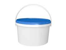 Bucket with paint. Royalty Free Stock Photography