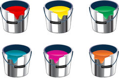 Bucket paint. Bucket of paint easy to resize or change color Royalty Free Stock Photos