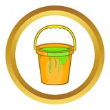 Bucket of paint vector icon Royalty Free Stock Image