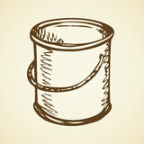 Bucket for painting. Vector drawing Stock Photos