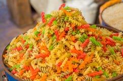 Bucket of pasta Royalty Free Stock Photo