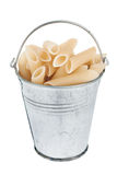 Bucket with pasta Stock Photography