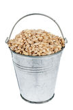 Bucket with  pearl barley Royalty Free Stock Photography