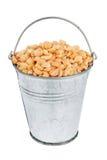 Bucket with peas Stock Photos