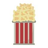 Bucket pop corn cinema graphic Royalty Free Stock Image