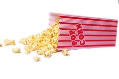 Bucket of Popcorn. A spilled bucket of popcorn royalty free stock photo