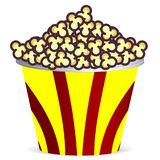 Bucket with popcorn. Vector art illustration of food Royalty Free Stock Images