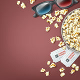 Bucket of popcorn Royalty Free Stock Photo