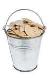 Bucket with pumpkin seeds Royalty Free Stock Photos
