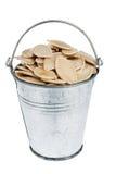 Bucket with pumpkin seeds Royalty Free Stock Photos