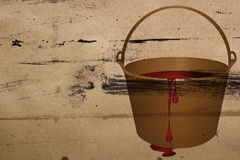 Bucket of red paint Royalty Free Stock Photo