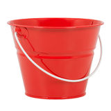 Bucket. Red bucket on a white background stock image