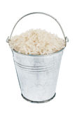 Bucket with  rice Royalty Free Stock Images