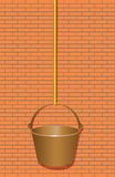 Bucket on a rope to work at height Royalty Free Stock Photos