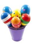 Bucket with samba balls Royalty Free Stock Images