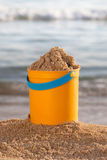 Bucket of sand Royalty Free Stock Image