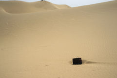 Bucket in sand mountains Royalty Free Stock Photos