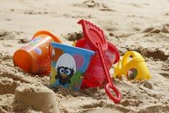 Bucket, Sand, Play, Holidays, Mar Royalty Free Stock Photos
