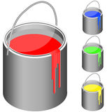 Bucket set with paint Royalty Free Stock Image