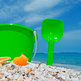 Bucket and shell Stock Image