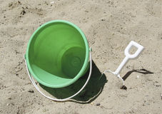 Bucket and Shovel. Photo of Bucket and Shovel in Sand Box stock photo